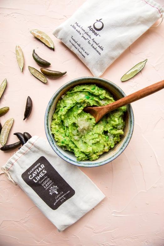 caviar lime apeel avocado guacamole